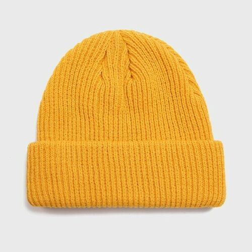 Knitted Beanie Hat Cap Men Warm Ski Winter Knit Women Unisex Autumn Plain Colors
