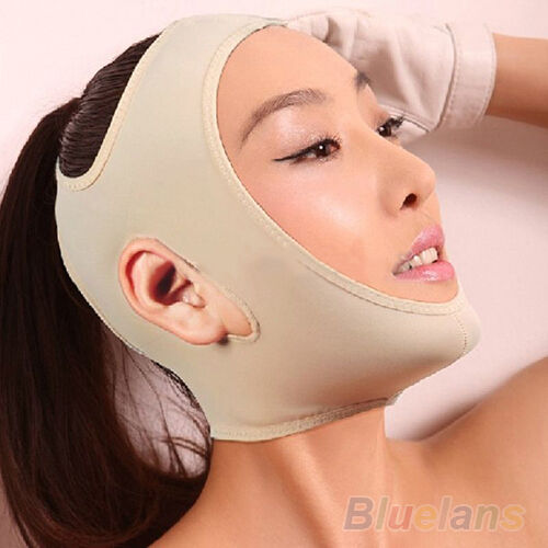 V FACE CHIN CHEEK LIFT UP SLIMMING SLIM MASK ULTRA-THIN BELT STRAP BAND HOT B84K