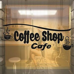 Coffee Shop Cafe Window Shop Front Vinyl Sticker Decal