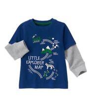 Gymboree Boys All Spruced Up Shirt Blue Little Explorer Map Trains 6-12 M