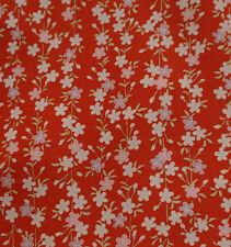 Japanese vintage kimono silk fabric Cherry Blossom