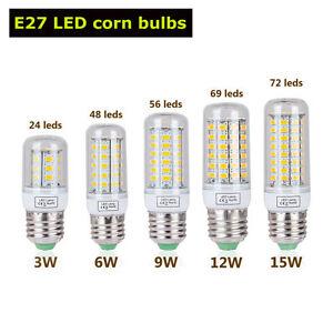 E27 Bulb Led 9w12w15w Détails Lumière Blanc Maïs Froidchaud Lampe 5730smd Sur 3w6w Ampoule cJ1lTKF