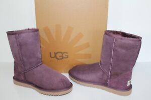 761e04da107 Details about UGG Australia 5825 PORT 5 Classic Short Women Suede Sheepskin  Boot US 5 Purple