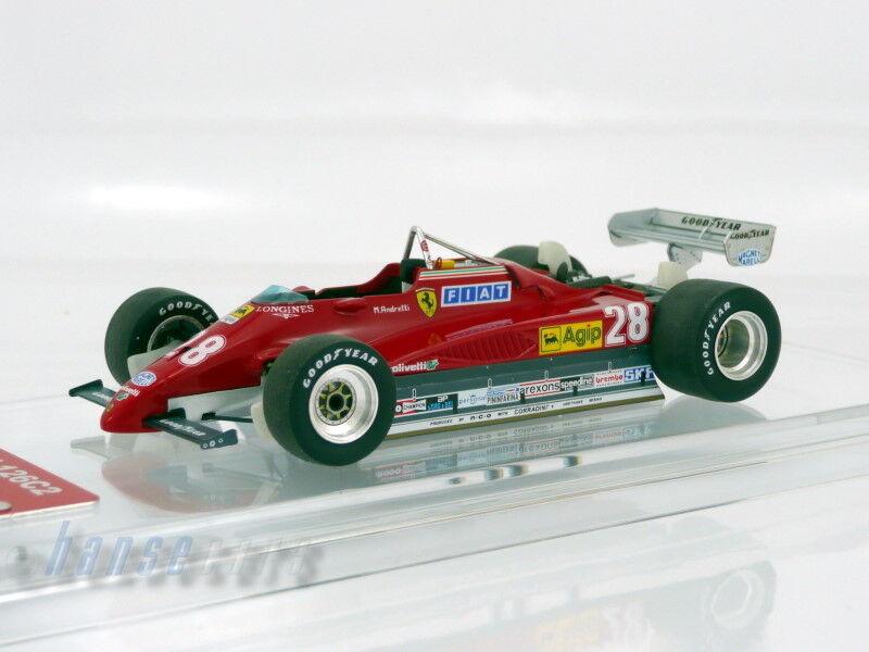 Heng Ai Ai Ai Yao Noël, coeur vraiHommes t chaud TAMEO Ferrari 126c2 GP Italy 1982 Mario Andretti Limited Edition | La Qualité  7924fb