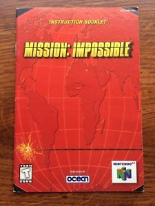 Mission-Impossible-N64-Nintendo-64-Instruction-Manual-Only