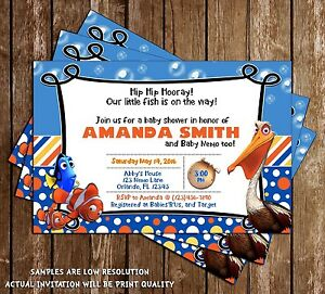 finding nemo baby shower shower invitations 15 printed w envelopes
