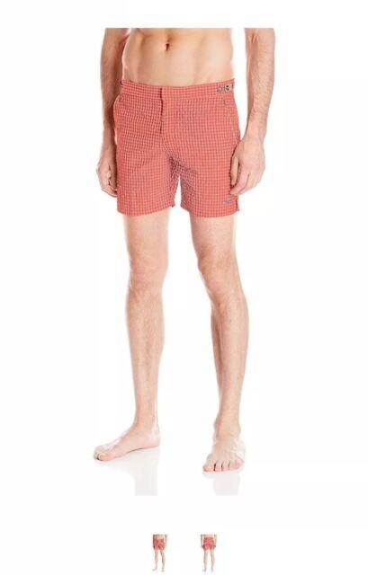 parke /& ronen Mens Catalonia Solid 6-Inch Swim Short