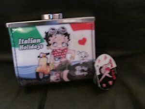 New-Betty-Boop-italian-holidays-hard-shell-clasp-purse