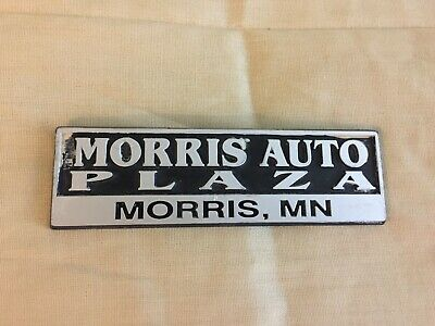 Johnson Auto Plaza Brighton Co >> Plastic Morris Auto Plaza Morris, MN Car Dealership Emblem | eBay