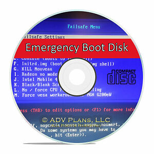 Boot, Format, Restore Emergency Recovery Hard Drive Utility
