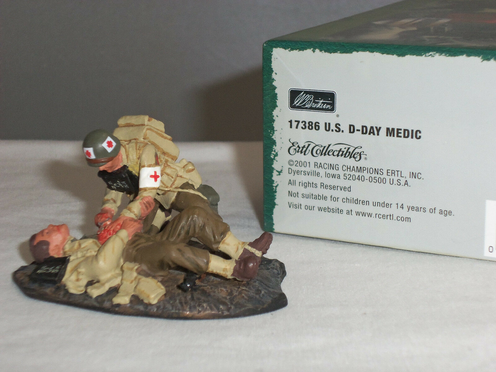 Britains 17386 Army Dday Medic Wounded World War Two Toy Soldier