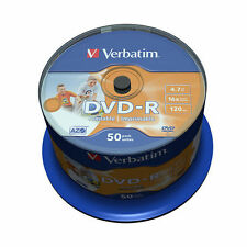 100 Verbatim DVD-R Inkjet Printable (No ID) 4.7 GB(16x) 120Min 43533 Spindle