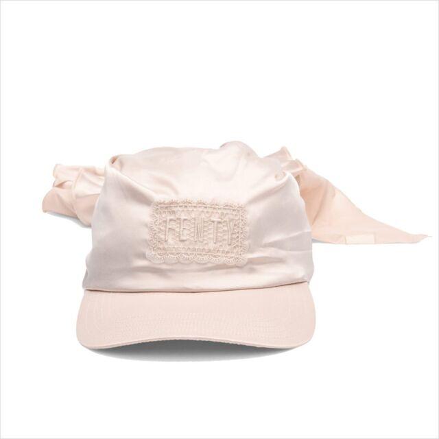 d4fcc1167e3 Puma X Fenty by Rihanna BANDANA CAP Pink Tint All Satin OSFM 021415 02 NWT