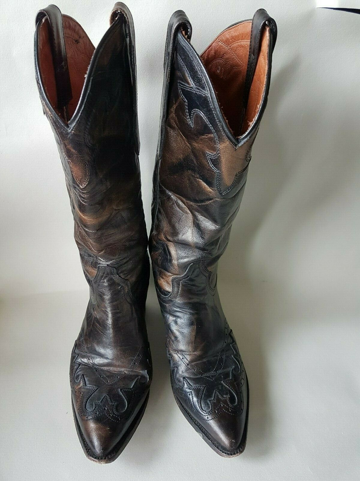 Dan Post  leather cowboy boots Western boots Made in Mexico US 7.5
