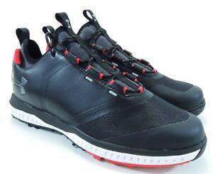Under Armour Mens Tempo Sport 2 Golf Shoes 3000215-001 Black Red ... 7c2d51068