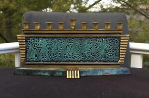Vintage-Dayagi-Brass-Menorah-From-Israel-Judaica-Chanukah-Judaism
