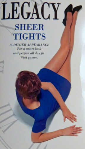 Pretty Polly Small Size Sheer 15 Denier Tights with Lycra From The Legacy Range