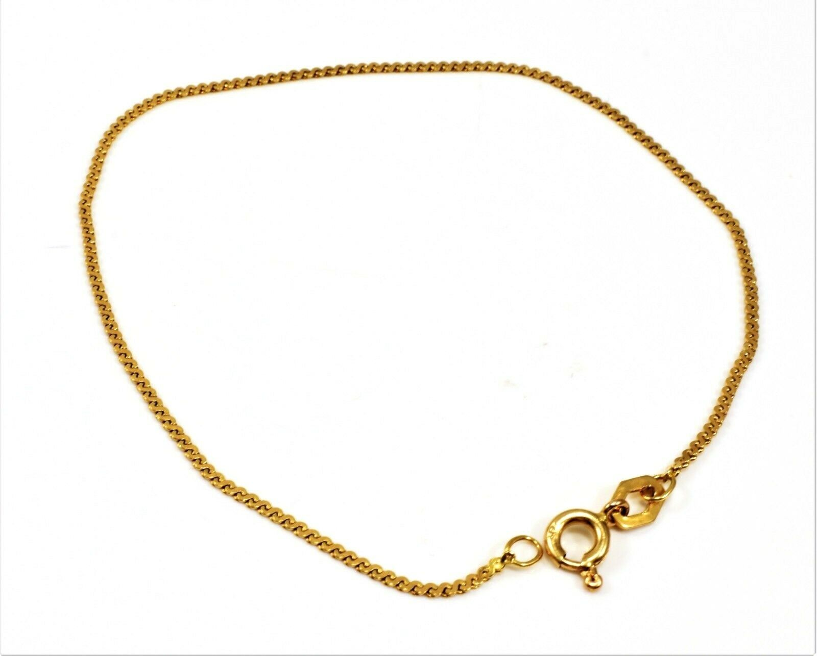 BEAUTIFUL SOLID 14K YELLOW gold DAINTY SERPENTINE CHAIN BRACELET 7  LONG STAMPED