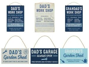 Father/'s Day Gift Dad/'s Shed Hanging Metal Sign