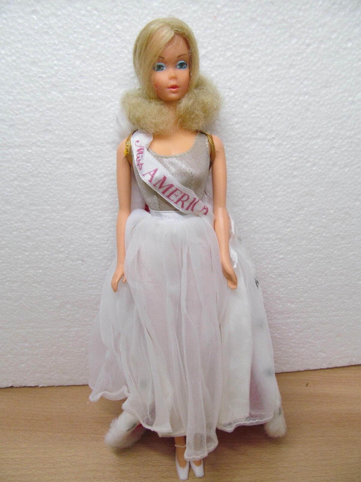 Mes-26914 BARBIE WALK LIVELY MISS AMERICA 70er J., da collezione risoluzione,