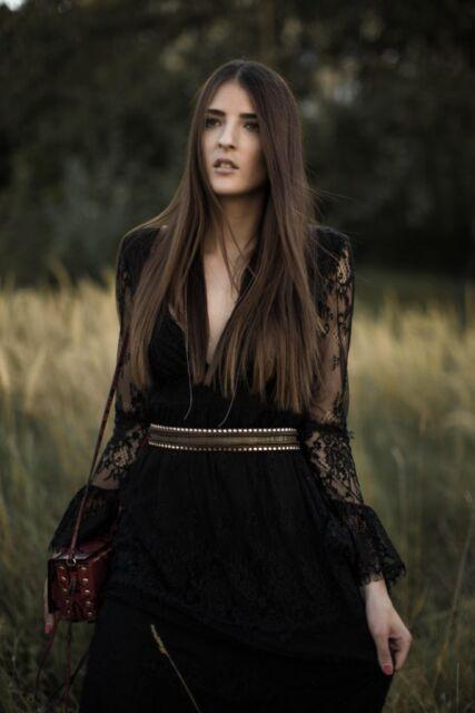 H&M STUDIO Long Lace Maxi Dress Gothic Folk UK 8 10 EU 34 36 US 4 6 Blogger