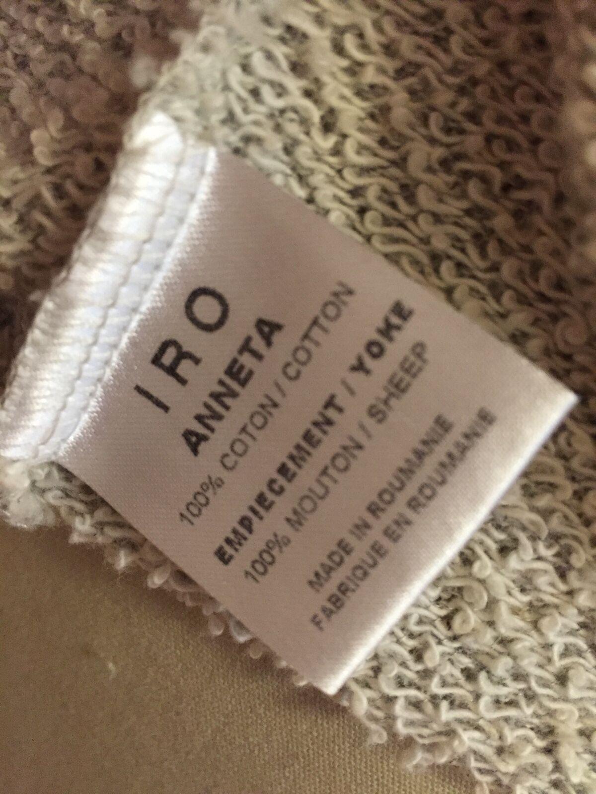 IRO ANNETA M sweatshirt leather trim varsity style spring spring spring resort cotton casual f1e134