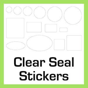 Geschenktüte / Kiste Permanent Transparent Klar Sicherheit Aufkleber Etiketten