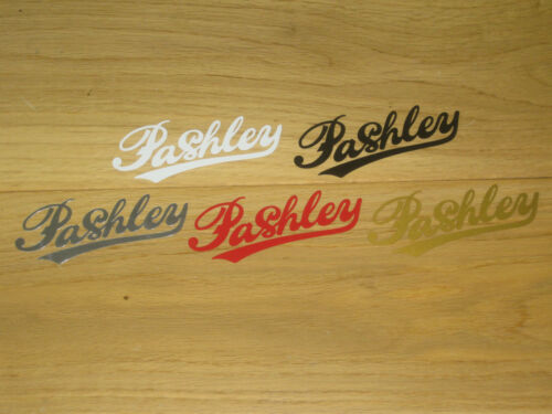 2 PASHLEY Cycling Stickers Decals Printed Frame Forks Wheel Helmet Phone bike
