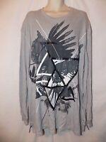 mens sean john thermal shirt L nwt abstract gray