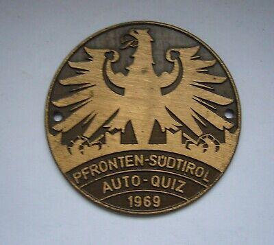 Autoplakette / Badge – Pfronten- Südtirol 1969 100% Garantie