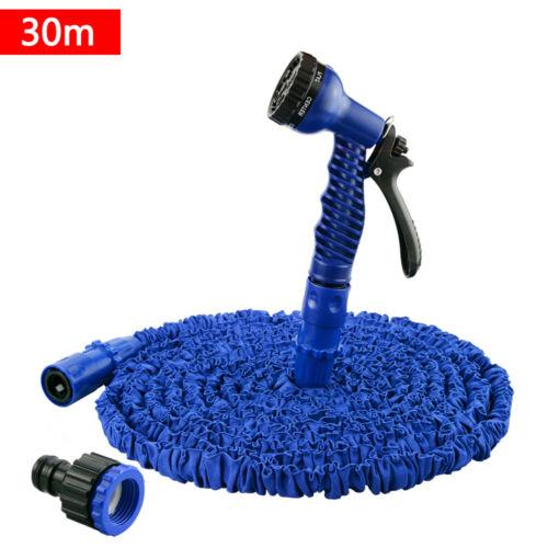 Wasserschlauch Blau Flexischlauch Gartenschlauch dehnbarer Flexibler 7,5-45m#