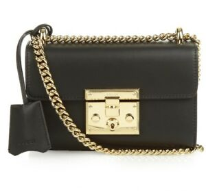 8e66a096b8e Image is loading Gucci-Padlock-GG-Small-Cross-Body-Bag-in-