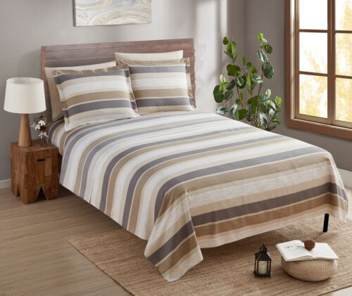 Egyptian Comfort 1800 Count 6 Piece Bed Sheet Set Deep Pocket Printed Bed Sheets