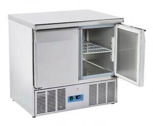 banco frigo 2 porte saladette tavolo refrigerato acciaio inox nuovo cm90x70x88 1 ebay. Black Bedroom Furniture Sets. Home Design Ideas