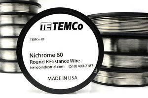 Ni80 wire 2500ft 36 Gauge AWG Nichrome 80 Resistance Wire 2500' Length
