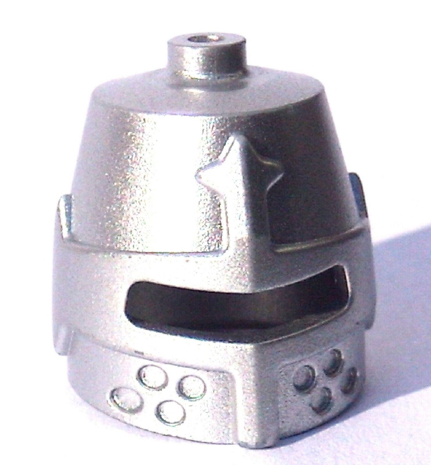 Lego Pferdekampfhelm mit Horn in flat silber Pferd Kopfpanzer Helm Neu 89524
