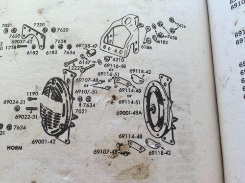 Harley Panhead Horn Mount Kit 1949-1951 Delco 16 Horn Wishbone Frame 10-24