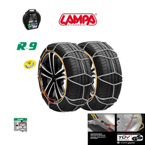 Gruppo 8.5 Catene da neve 9 mm MINI ONE COOPER con pneumatici 205//40//18