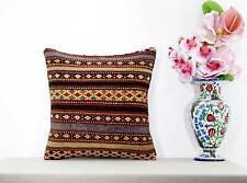 Aztec Pillow Cover Retro Turkish Kilim Rug Cushion Ethnic Sofa Floor Throw 16x16