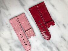 Officine Panerai Straps (2) Colorful Alligator Straps (Red & Pink) - 40mm