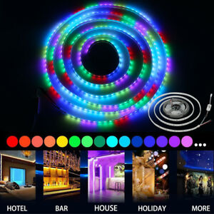 Waterproof 12V 5M 5050 Magic RGB 1903 IC LED Strip Lights for Boat/Truck/Gar<wbr/>den