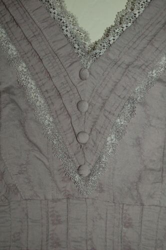 Lavender New Next amp; Lace V Silk Neck Trimmed Satin Top Fitted Vest Faux 8 HffEU