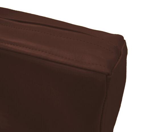 Pe242t Root Beer en cuir synthétique marron classique boîte 3D Housse De Coussin Taille personnalisée