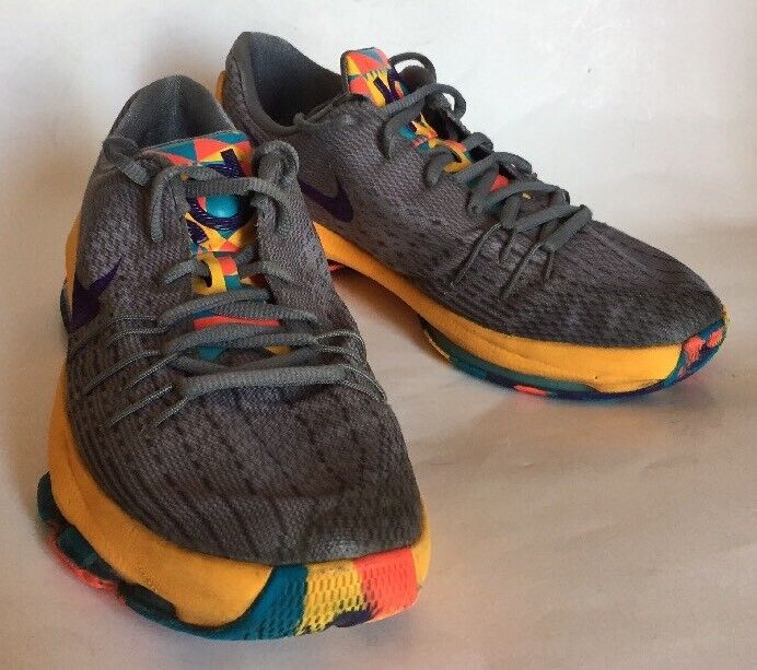 Nike KD 8 PG Country Wolf Grey Court Purple. Sz 6.5 Y. OKC 2015 Kevin Durant