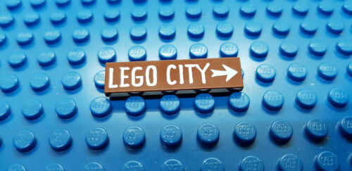 LEGO-MINIFIGURES SERIES X 1 BROWN TILE 1 X 4 LEGO CITY ON THE FRONT PARTS