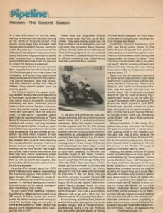 1977-Pat-Hennen-The-Second-Season-2-Page-Vintage-Motorcycle-Article