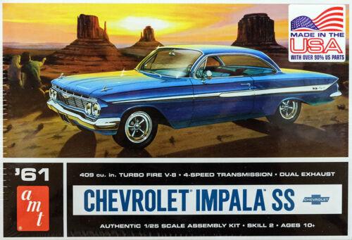1961 Chevrolet Impala SS Chevy 1:25 AMT Model Kit Bausatz AMT1013