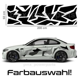 Camouflage Auto Aufkleber Tarnmuster Flecktarn Army Sticker