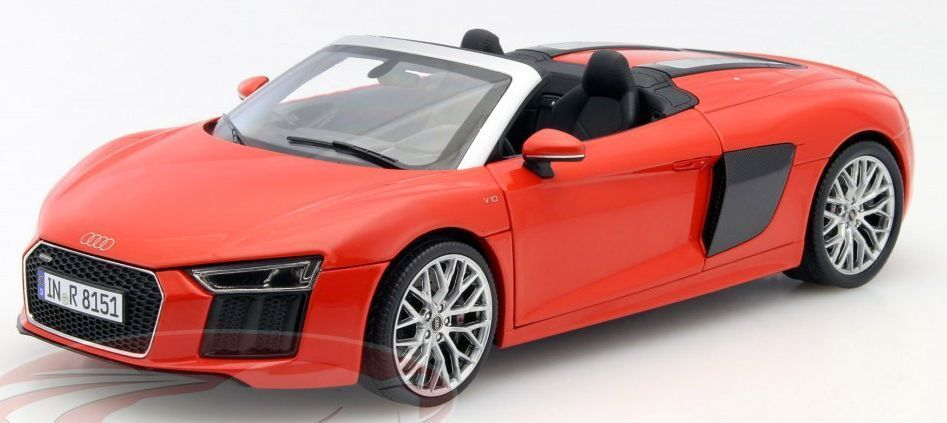AUDI R8 SPYDER V10 5011618551 5011618552 DEALER MODELS road cars grey   red 1 18