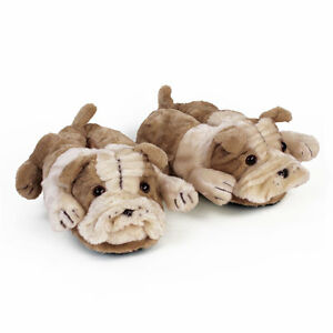 Bulldog Animal Slippers Dog Slippers Adult Kids Sizes In Stock